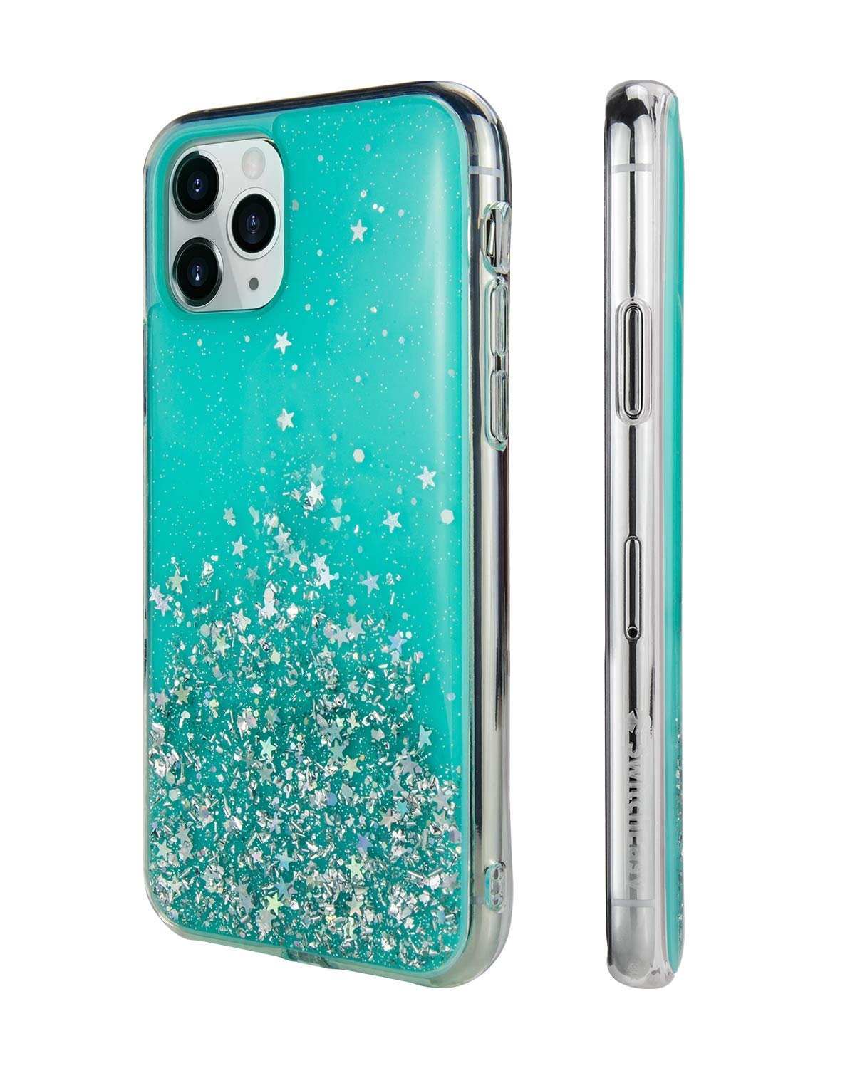 """SWITCHEASY iPhone 11 Pro Max Clear Case - Starfield Luxury Fashion Glitter Hard Case Transparent Clear Shiny Bling Sparkling Protective Cover for Women (Transparent Blue, 2019 iPhone 6.5"""")"""