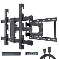 JUSTSTONE TV Wall Mount Bracket Full Motion for Most 32-80 Inch LED/LCD/OLED Flat Screen Curved TVs with Articulating Dual Arm Swivel Tilt Up to 110 lbs, Max VESA 600X400mm