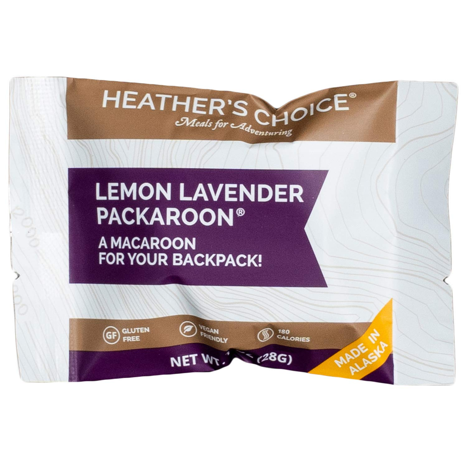 Heather's Choice Packaroons, Lemon Lavender, Wholesome, Gluten-Free, Allergen-Friendly Coconut Cookies for Backpacking, Camping, Hunting and Travel
