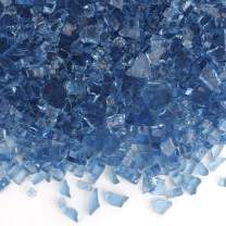 Only Fire Fire Glass for Natural or Propane Fire Pit, Fireplace, or Gas Log Sets, 10-Pound, 1/4-Inch, Pacific Blue
