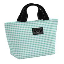 SCOUT Nooner Lunch Box, Water-Resistant, Lightweight, Insulated Lunch Bag for Women with Zippered Closure and Exterior Zipper Pocket in our Barnaby Checkham Pattern (Multiple Patterns Available)
