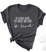 Mahrokh Womens Be Kind Shirt Funny Inspirational T Shirts Casual Short Sleeve Tops Tees