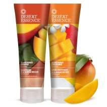 Desert Essence Island Mango Shampoo & Conditioner Bundle - 8 Fl Ounce - Enriching - Shea Butter - Jojoba Oil - Smooth & Silky - Soft & Healthy