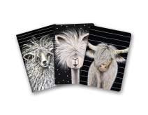 Studio Oh! Notebook Trio with Three Coordinating Designs, Rachel Brown Farm Animals, NT060