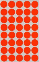 Royal Green Round Stickers Colored Labels 19mm 3/4 inch - Neon Red - 280 Pack