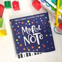 Made With Tone My First Note: Play The Keyboard for Kids, Music Notes with Letters and Five Songs for Children and Toddlers, Music Educational Book for Beginning Musicians