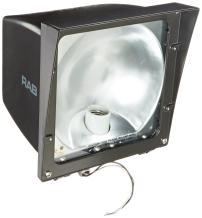 RAB Lighting EZSH100 High Pressure Sodium EZ Floodlight, ED17 Type, Aluminum, 100W Power, 9500 Lumens, 120V, Bronze Color