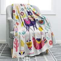 "Jekeno Llama Alpaca Blanket Cartoon Soft Ligtweight Durable Cozy Bed Couch Throw Blanket Plush Microfiber 50""x60"""