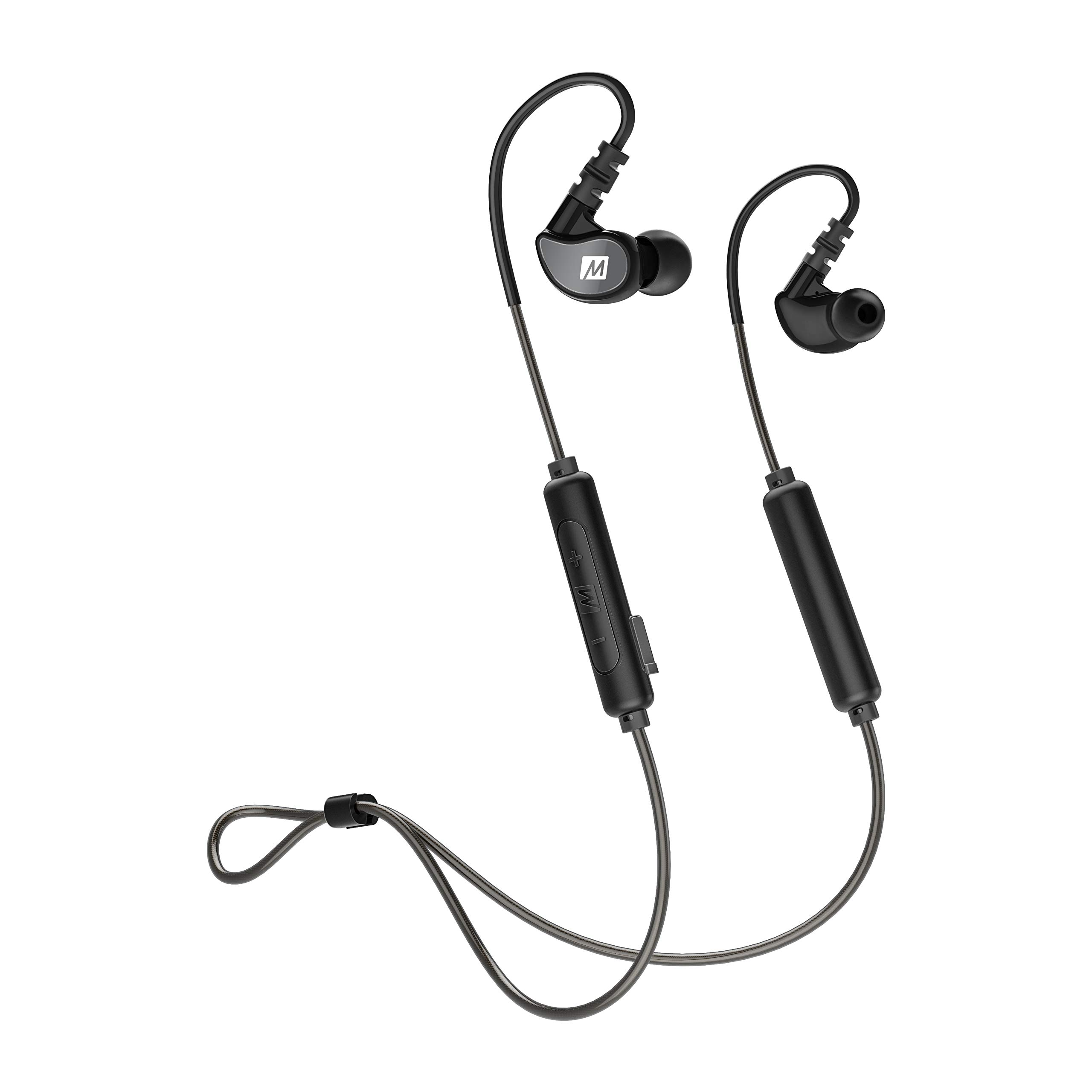 MEE audio M6B Bluetooth Wireless Sweatproof Sports in-Ear Headphones with Headset (2019 Version with Bluetooth 5.0; 9 Hour Battery Life)