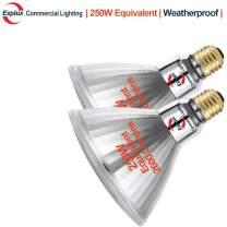 Explux 250W Equivalent PAR38 LED Flood Light Bulbs, Outdoor Weatherproof, 2600 Lumens, Dimmable, 5000K Daylight, 2-Pack