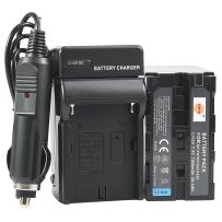 DSTE Replacement for NP-F970 Battery + DC01 Travel and Car Charger Adapter Compatible Sony DCM-M1 MVC-CD1000 HDR-FX1 DCR-VX2100E DSR-PD190P NEX-FS700RH HXR-NX3 as NP-F930 NP-F950 NP-F960