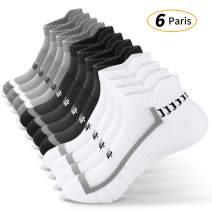 Runhit Unisex Ankle Athletic Running Socks Sports Comfort Tab Socks (3/6 Pack)