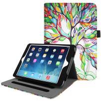 Fintie Case for iPad Mini/Mini 2 / Mini 3 [Corner Protection] - [Multi-Angle Viewing] Smart Stand Protective Cover with Pocket, Auto Sleep/Wake for Apple iPad Mini 1 / Mini 2 / Mini 3, Love Tree