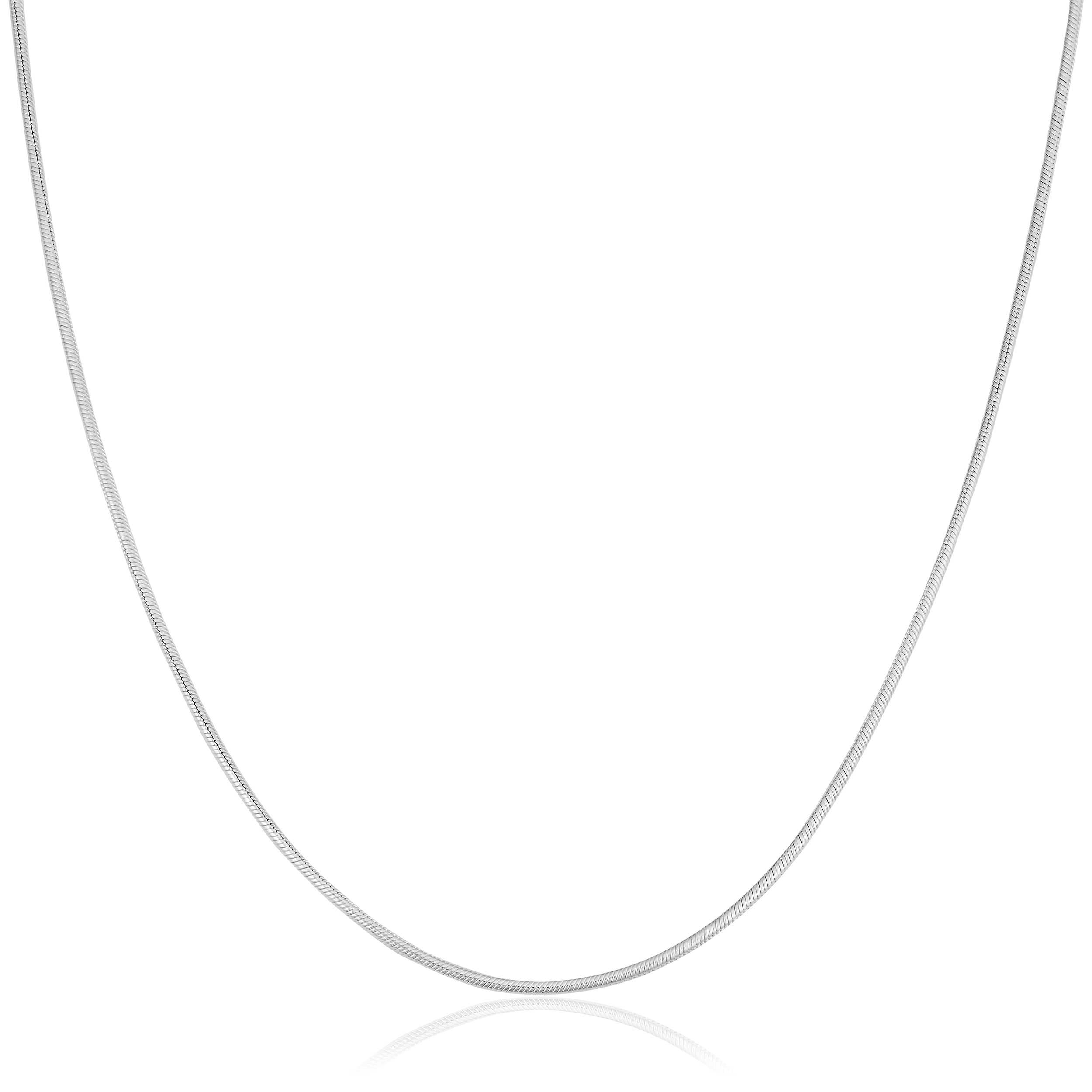 Kooljewelry Sterling Silver 1.2 mm Round Snake Chain Necklace (16, 18, 20, 22, 24, 30 or 36 inch)
