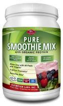 Olympian Labs Pure Smoothie Mix with Organic Vegan Protein and Added Probiotics, Vitamins, Minerals, CLA, Flax