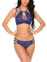 Avidlove Lingerie for Women Sexy Bra and Panty Set 2 Piece Outfits Lace Babydoll Bodysuit