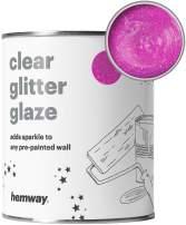 Hemway | Clear Glitter Paint Glaze [Baby Pink,1 LTR]