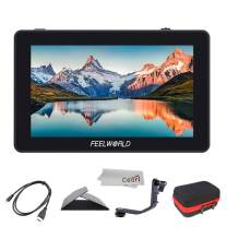 Feelworld F6 Plus 5.5 Inch 3D LUT Touch Screen 4K HDMI Field Monitor with Histogram, Peaking, Embedded Audio, Exposure, False Color, Zoom, Pixel to Pixel for DSLR Cameras, Camcorders