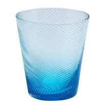 Impulse Roma Rocks Glass, Aqua, Set of 4