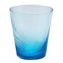 Impulse Roma Rocks Glass, Aqua, Set of 4