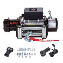 OPENROAD 9500 lb Electric Winch,12V DC Truck Recovery Winch kit, Towing Winch for Jeep,SUV,Truck Come with Overload Protection, Wire Remote Control and 2 Wireless Remote Controls