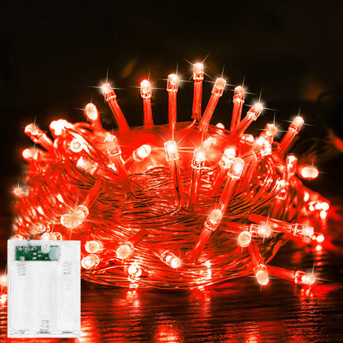 Led String Lights Battery Operated Fairy String Lights Twinkle Decorative Lights 50 Led 16 5ft Battery Powered Starry Lights For Bedroom Wedding Chirstmas Festival Party Garden Patio Decoration