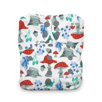 Thirsties Natural One Size All in One Cloth Diaper, Snap Closure, Forest Frolic