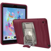 UBL iPad 10.2 Case 2020 iPad 8th Generation Case / 2019 iPad 7th Generation Case, Shockwave v2 Heavy Duty Rugged Case with Pencil Holder, Screen Protector and Removable Kickstand, (Deep Red)