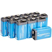 AmazonBasics 9 Volt Lithium Batteries - 12-Pack