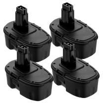 4Pack 3.6Ah 18V DC9096 for Dewalt XRP Battery, Battery for Dewalt DC9098 DC9099 DE9039 DE9096 DE9098 DW9099 DW9098 DE9503
