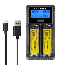 Victagen Universal Battery Charger,LCD Display Rapid Charger Smart Charger for Rechargeable Batteries