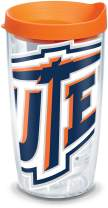 Tervis 1191052 UTEP Miners Colossal Tumbler with Wrap and Orange Lid 16oz, Clear