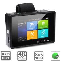 WSDCAM 4 inch Portable Wrist IP Camera Tester CCTV Tester 4K H.265 IP CVBS CVI TVI AHD Analog Camera Tester with POE/IP Discovery/Rapid ONVIF/Firmware Update 1800ADH-Plus