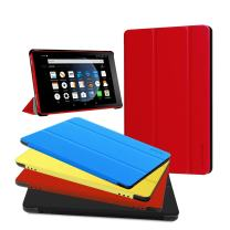 Fire HD 8 Case - Zerhunt Ultra Light Slim Fit Protective Cover with Auto Wake/Sleep for Fire HD 8 Tablet (2018/2017 Release,8th/7th Generation) Red, Not for 10th 2020 Release
