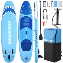 wowspeed Inflatable Stand Up Paddle Board, Paddle Board Surfboard, 10.5ft Paddleboard Inflatable Kayak, Stand-Up Paddleboards, Inflatable Board Surfboard Kit with Paddle/Pump/Bag for Adult/Youth/Kid