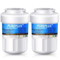 PUREPLUS MWF Replacement for GE SmartWater, HDX FMG-1, MWFP, MWFA, PL-100, WFC1201, RWF0600A, PC75009, RWF1060, 197D6321P006, GSE25GSHECSS, Kenmore 469991 Refrigerator Water Filter Cartridge, 2Pack