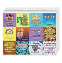 Bible Verses for Kids in School Stickers (10-Sheet) - (Devotional Stickers (10-Sheet) - Encouraging Colorful Stickers