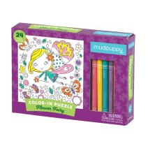 Mudpuppy Flower Fairy Color-in Puzzle (24 Piece)