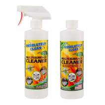 Natural Based Multi-Purpose Household Cleaner Combo, Powerful, Natural Enzymes Make Cleaning Easy - USA Made (1-Spray Bottle & 1-4x Refill Bottle - Makes 5 Bottles - Only $3.00 per 16oz Refill)
