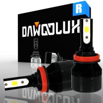 DAWOOLUX Aftermarket LED Headlight Conversion Kits H1 H3 H4 H7 H8 H9 H10 H11 H13 H16 9004 9005 9006 9007 880/881 60W 6500K 6400LM Flip COB Chip Fit Low Beam and High Beam and Fog Light (H8/H9/H11)