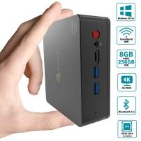 Beelink U55 Mini PC Windows 10 Pro, Intel Core i3-5005U Processor 8GB RAM 256GB SSD, 4K HD Dual HDMI USB 3.0 Port, Dual Band WiFi Gigabit Ethernet BT 4.2 Support Auto Power On (Beelink U55 8GB/256GB)