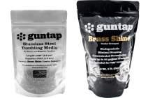 "guntap Stainless Steel Tumbling Media + Brass Shine Powdered Detergent Bundle (1lb Media (.047"" x .255"" pin Size), 2lb Brass Shine Powdered Detergent)"