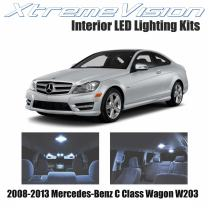 Xtremevision Interior LED for Mercedes-Benz C Class Wagon W203 2008-2013 (15 Pieces) Cool White Interior LED Kit + Installation Tool