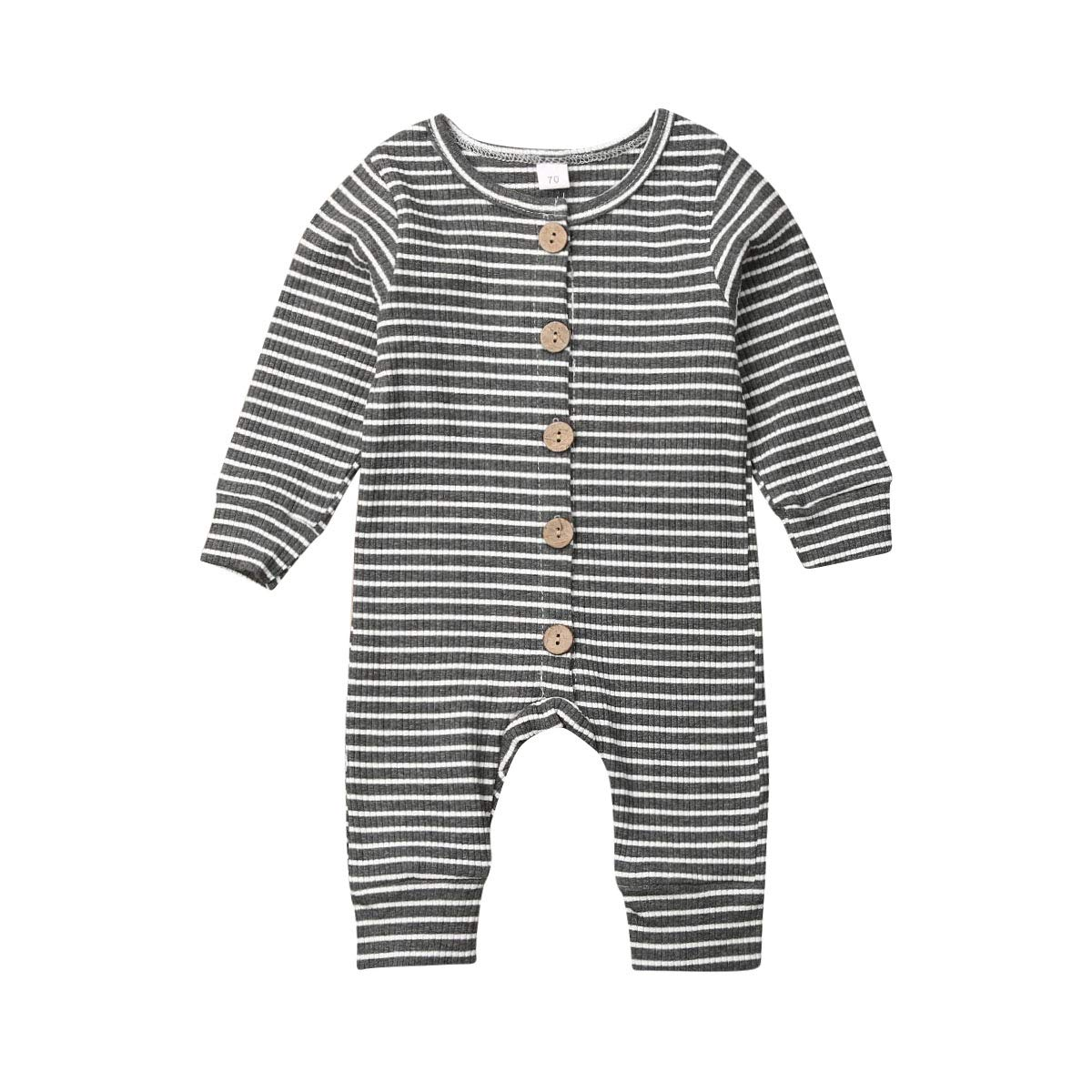 Infant Kids Clothing Baby Boys Girls Cute Stripe Hooded Long Sleeve Romper Jumpsuit Bodysuit Top Outfits Clothes