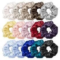 LilySilk Silk Charmeuse Scrunchy -Regular -Scrunchies For Hair - Silk Scrunchies For Women Soft Hair Care (15pc)