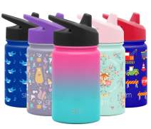 Simple Modern Kids Summit Sippy Cup Thermos 10oz - Stainless Steel Toddler Water Bottle Vacuum Insulated Girls and Boys Hydro Travel Cup Flask Ombre: Sorbet Purple