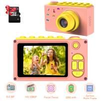 ShinePick Kids Digital Camera, Mini 2 Inch Screen Children's Camera 8MP HD Digital Camera with Micro SD Card(Pink)