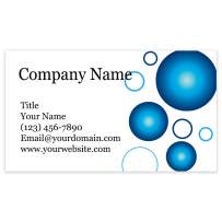"""Premium Personalized Business Cards 3.5"""" x 2"""" - 100 Cards - 14Pt, Recycled, 28PT Business Cards - All Business Designs - 40+ Designs - 100% Made in the U.S.A. - Same Day Shipping (Blue Bubbles)"""