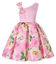 AGQT Flower Girls Dress Vintage Floral Wedding Party Bridesmaid Dresses 2-11 Years