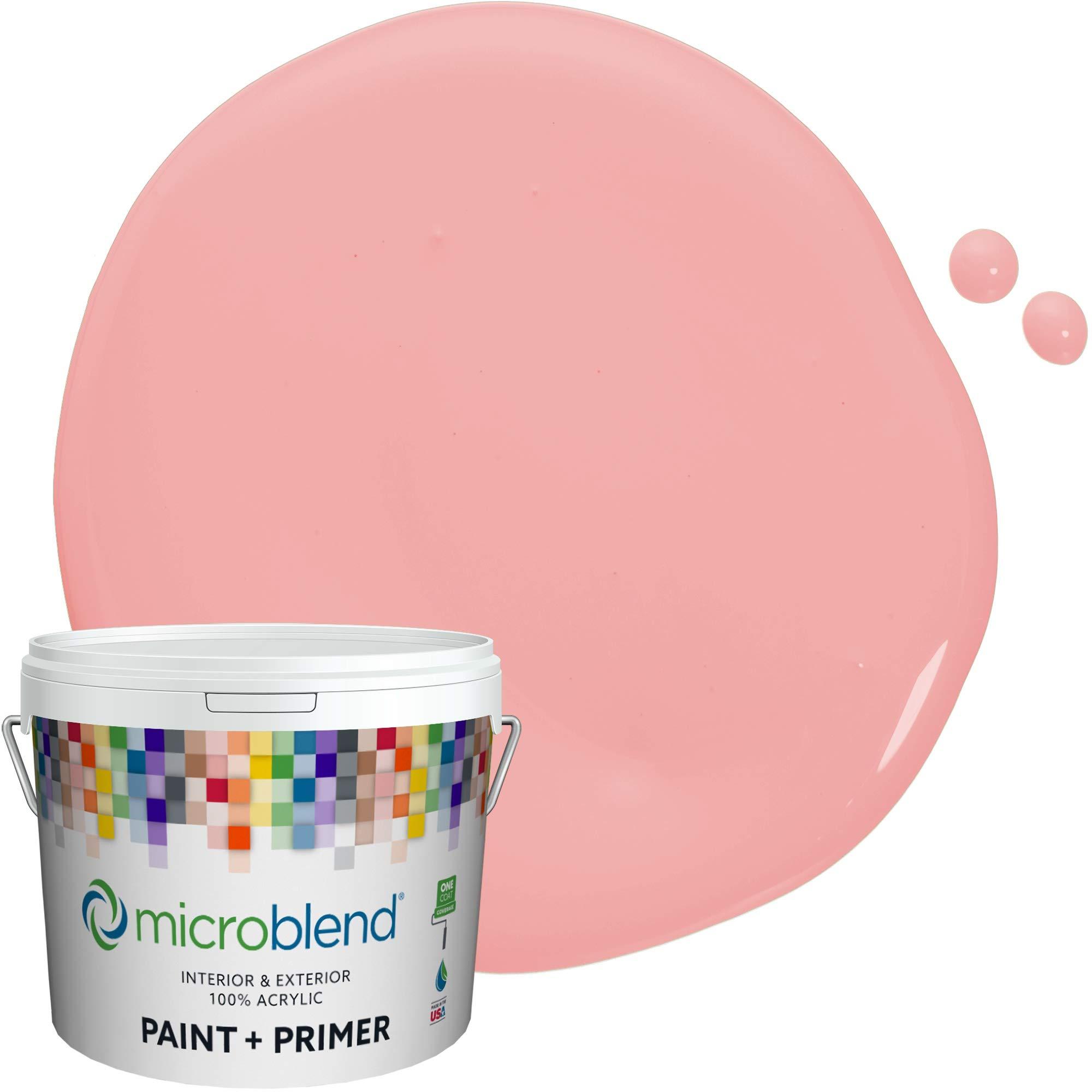 Microblend Interior Paint + Primer, Abbey Rose, Eggshell Sheen, 5 Gallon, Custom Made, Premium Quality One Coat Hide & Washable Paint (73221-5-M1100B4)